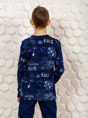 Лонгслив Цвет: синий; Состав: Хлопок 100%; Материал: Кулирка Стильный свитшот, с интерсным и ярким принтом, отлично подойдет на лето. Этот свитшот можно носить как самостоятельную модель с джинсами, а