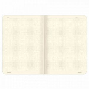 Тетрадь 60 л. в точку обложка SoftTouch, бежевая бумага 70 г/м2, сшивка, В5 (179х250 мм), ЕДИНОРОЖКИ, BRAUBERG, 403827