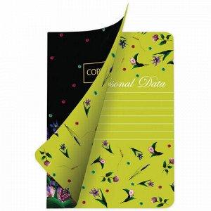 Тетрадь 60 л. в точку обложка SoftTouch, фольга, бежевая бумага 70 г/м2, сшивка, В5 (179х250 мм), FLORET, BRAUBERG, 403828