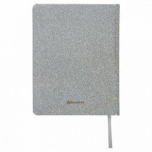 """Дневник 1-11 класс 48 л., обложка кожзам (твердая), фольга, BRAUBERG """"SPARKLE"""", серебристый, 105464"""