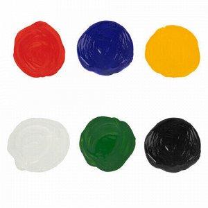 Краски акриловые для рисования и хобби BRAUBERG 6 цветов по 10 мл, 191599