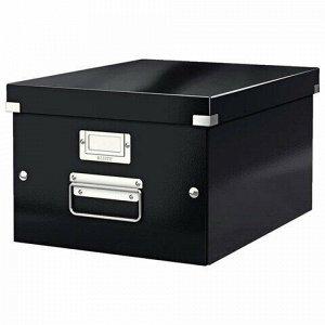 """Короб архивный LEITZ """"Click & Store"""" L, 200х369х482 мм, ламинированный картон, разборный, черный, 60450095"""