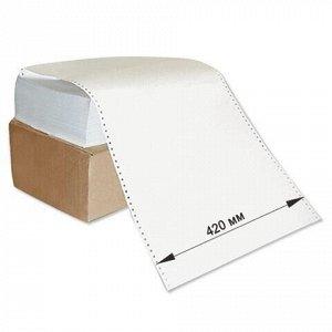 """Бумага с неотрывной перфорацией, 420х305 мм (12""""), 1600 листов, плотность 65 г/м2, белизна 98%, STARLESS"""