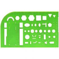 Трафарет студенческий Стамм, отливная шкала, зеленый