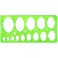 Трафарет эллипсов 8-75мм Стамм, тонированный зеленый