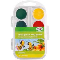 """Акварель Гамма """"Пчелка"""", медовая, 16 цветов, без кисти, пластик. упак., европодвес"""