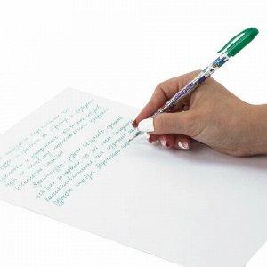 Ручки гелевые ЮНЛАНДИЯ, НАБОР 12 шт., АССОРТИ НЕОН, корпус с печатью, узел 0,7 мм, линия письма 0,5 мм, 142806