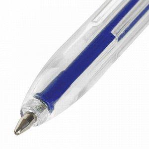 Ручки шариковые STAFF C-51, НАБОР 6 шт., АССОРТИ, узел 1 мм, линия письма 0,5 мм, 142817