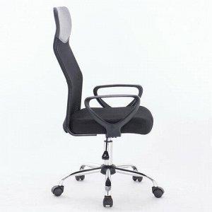 """Кресло BRABIX """"Tender MG-330"""", с подлокотниками, хром, черное, 531845"""