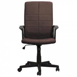 """Кресло офисное BRABIX """"Focus EX-518"""", ткань, коричневое, 531577"""