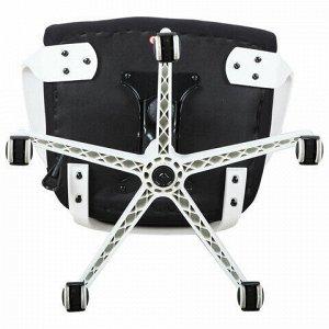 """Кресло офисное BRABIX PREMIUM """"Prime EX-515"""", пластик белый, ткань, черное, 531812"""