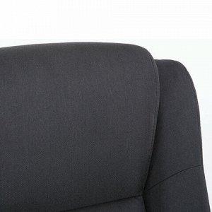 """Кресло офисное BRABIX PREMIUM """"Solid HD-005"""", НАГРУЗКА до 180 кг, ткань, черное, 531822"""