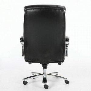 """Кресло офисное BRABIX PREMIUM """"Direct EX-580"""", хром, рециклированная кожа, черное, 531824"""