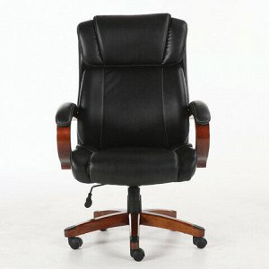 """Кресло офисное BRABIX PREMIUM """"Magnum EX-701"""", дерево, рециклированная кожа, черное, 531827"""