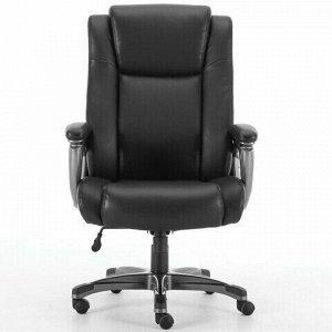 """Кресло офисное BRABIX PREMIUM """"Solid HD-005"""", НАГРУЗКА до 180 кг, рециклированная кожа, черное, 531941"""