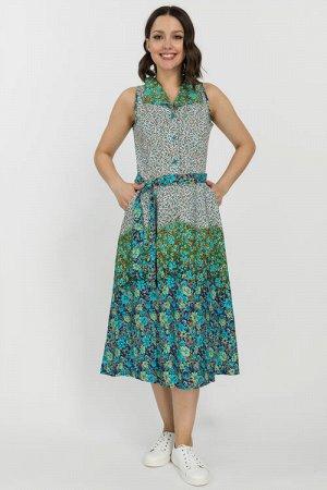 N051-1 Платье из кулирки без рукава (46-56 р) (46)    46