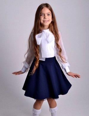 Школьная юбка Конфетти синяя
