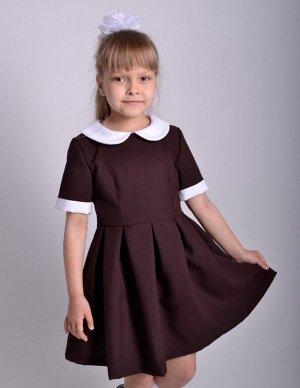 Школьное платье Алиса Горький шоколад