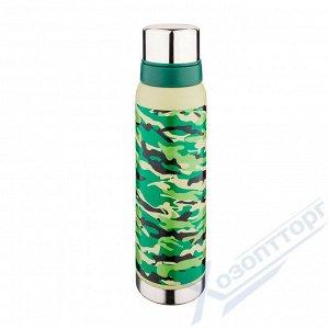 Термос AGNESS с узким горлом и 2мя крышками-чашками 1000мл 910-101