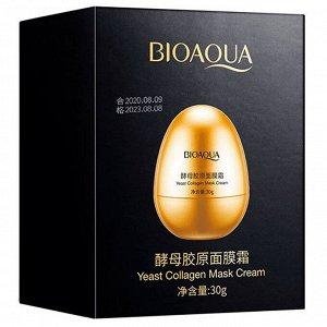 Крем маска для лица Bioaqua Yeast Collagen Mask Cream с яичным экстрактом и дрожжами 30 g