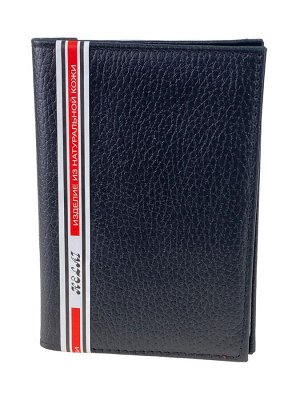 Кожаная обложка для паспорта и автодокументов, цвет чёрный