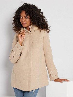 Пальто из материала под шерсть для беременных