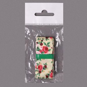 Лента репсовая «Розы», 25 мм, 2 ± 0,1 м, цвет разноцветный