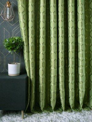 """Шторы """"Соты"""" зел. шир 2,5м 2 полотна. Хорошие плотные шторы"""