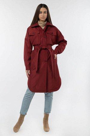 03-3200 Плащ женский (пояс) Плащевка бордовый