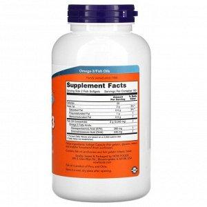 Now Foods, омега-3, очищенная на молекулярном уровне, 200капсул из рыбьего желатина