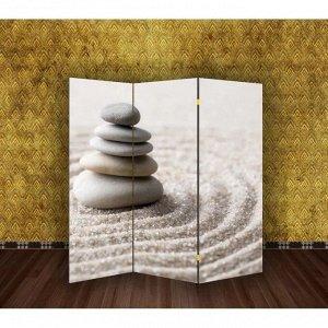 """Ширма """"Камни на песке"""", 160 ? 150 см"""