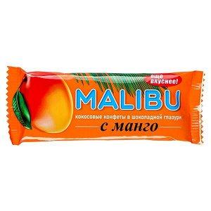 Батончик MALIBU кокосовый с манго в шоколадной глазури 50 г