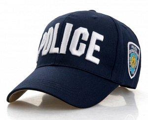 """Кепка унисекс, надпись """"Police"""", цвет темно-синий"""