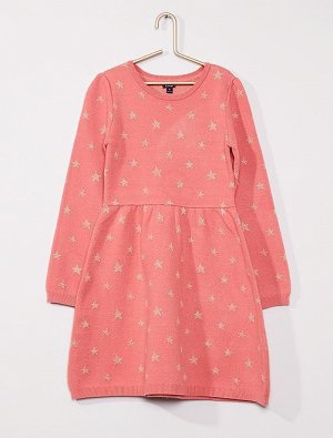 Платье-джемпер с блестящим узором