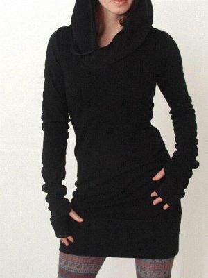 Оригинальное платье-туника с перчатками 40-42-44
