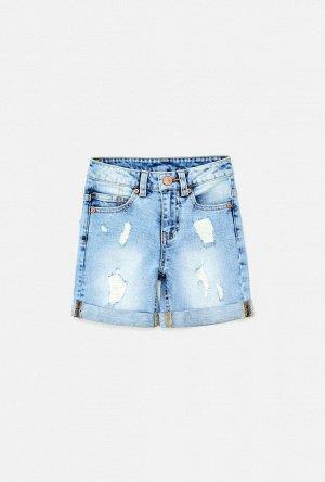 Шорты джинсовые детские для мальчиков Evervess светло-голубой