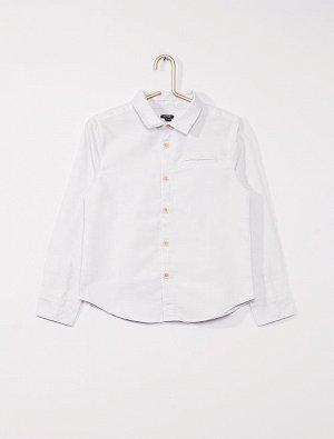 Рубашка из ткани оксфорд с длинными рукавами