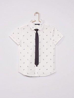 Рубашка Оксфорд и галстук