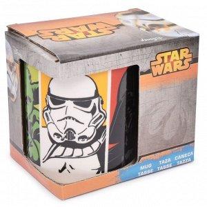Кружка керамическая в подарочной упаковке (325 мл). Звездные войны Четыре персонажа