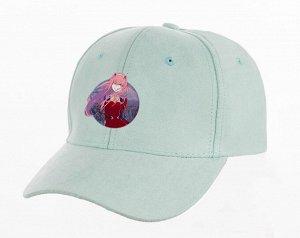 Кепка унисекс, с принтом, цвет голубой