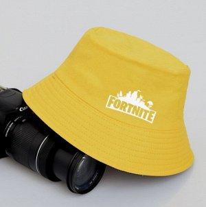 Панама унисек, с принтом, цвет желтый