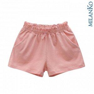 Детские шорты из натурального хлопка (роз/жёлт) MilanKo SD-0504