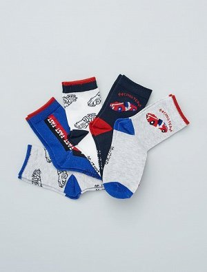 Комплект из 5 пар носков с рисунками