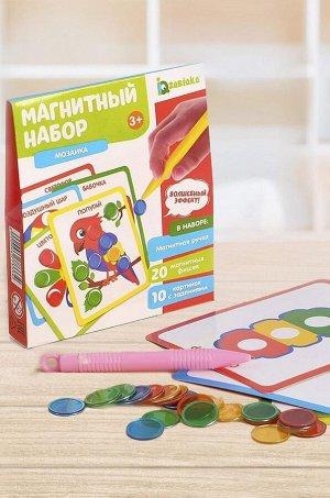 IQ-ZABIAKA, Игровой набор магнитный Мозаика цвета и формы IQ-ZABIAKA