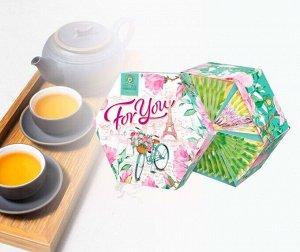 Чай ассорти Hyleys FOR YOU Романтика Парижа 36 пакетиков