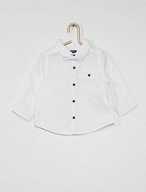 Рубашка из хлопка с галстуком-бабочкой