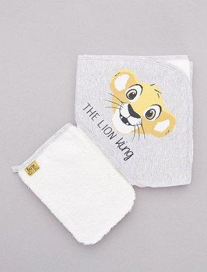 Комплект из полотенца с капюшоном и рукавицы 'Король Лев'