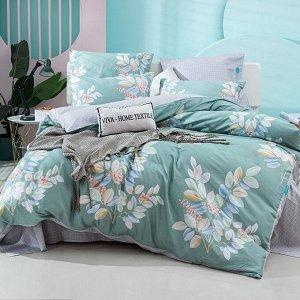 Комплект постельного белья Делюкс Сатин L365 Евро 4 наволочки