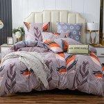Постельное белье Модное на резинке CLR131 2 спальное наволочки 50-70 2 шт.