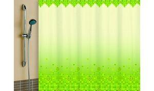 Штора для ванной комнаты, 180 х 180 см, с кольцами, полиэстер, зеленый, МОЗАИКА, 1/20